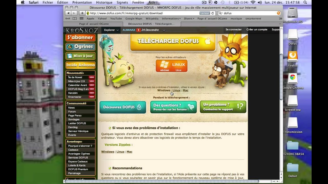 Comment telecharger dofus sur mac youtube - Comment telecharger open office sur mac ...