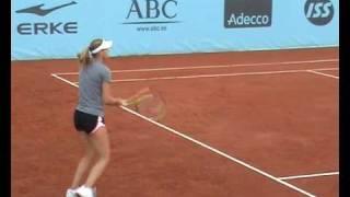 Lucie Safarova Madrid 2010 practice 1