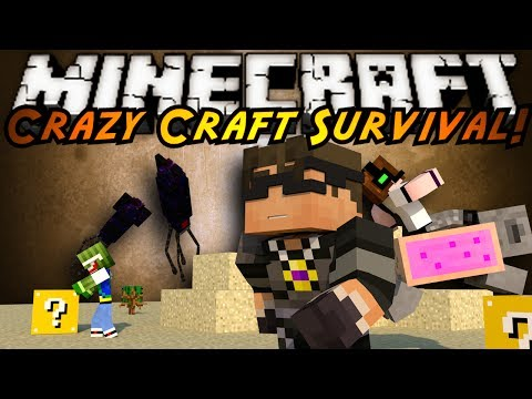 Minecraft Crazy Craft : WTF GIANT SQUIDS?!