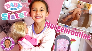 Morgenroutine BABY born Sister | Puppenmama Miley | CuteBabyMiley