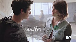 stiles and malia | candles