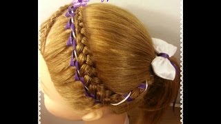 Encintado Para Trenza de Niña - Ribbon Weave for Girl