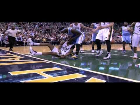 Arron Afflalo flagrant foul 2 on Alec Burks: Nuggets at Jazz