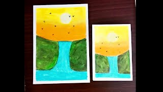 All Clip Of Easy Waterfall Painting For Kids Bhclip Com