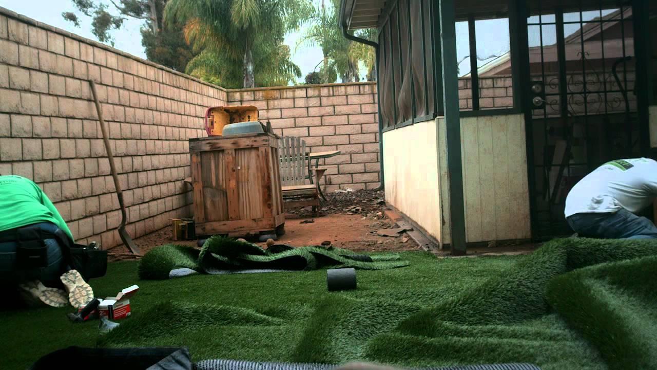 triyae com u003d backyard turf installation various design