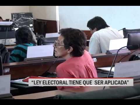 """31/10/2014-17:14 """"LEY ELECTORAL TIENE QUE  SER APLICADA"""""""