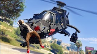 SNEAKING UP ON PEOPLE WITH A STEALTH HELICOPTER! | GTA 5 THUG LIFE #214