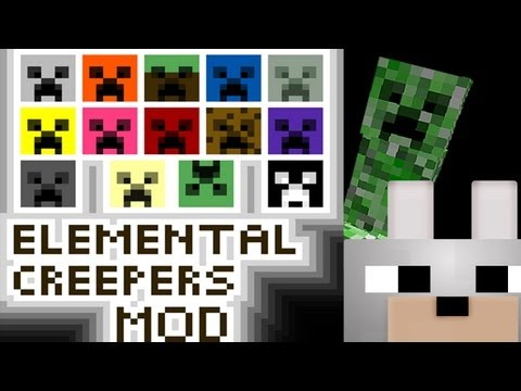 Minecraft Mods - Elemental Creepers 1.2.5 Full Mod Review and Full Tutorial ( Client and Server )
