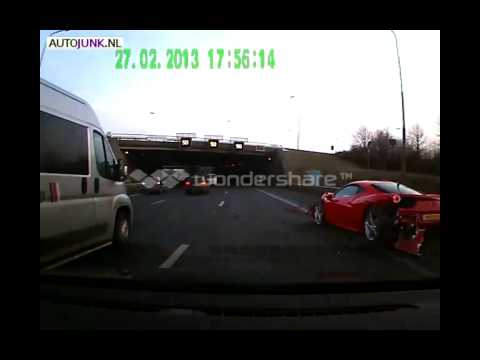 Afrojack crashes Ferrari 458 on Dutch highway