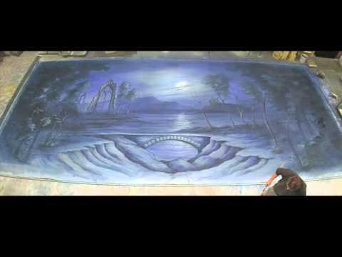 La Sylphide backdrop painted by Scenic Studios Australia, designed by Paul Kathner
