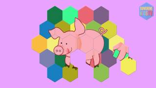Puzzles for kids. Educational puzzle cartoon funny animals. Sanshine Kids TV