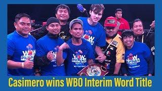 FULL FIGHT! JOHN RIEL CASIMERO WINS WBO TITLE via 12TH ROUND TKO