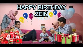 Zein's birthday 2yo, unboxing mainan tobot, sendal tay, tas robocar roy, tempat minum mobil❤️