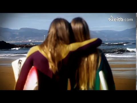 La hermanas Canales,  dos surfistas de Sopelana