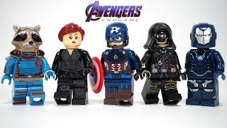 Avengers Endgame Captain America Black Widow Hawkeye Pepper Potts Unofficial Lego Minifigures