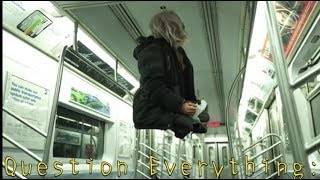 Homeless Man Levitates On Metro Train in NYC