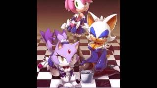 amy sonic rouge shadow blaze and silver dark horse