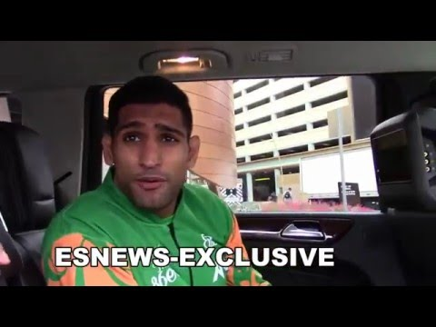 AMIR KHAN exclusive interview post weigh in with CANELO EsNews Boxing