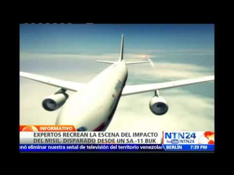 Expertos recrean la escena del posible impacto con misil a avión de Malaysia Airlines