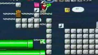 AMAZING mario level which plays itself and own music