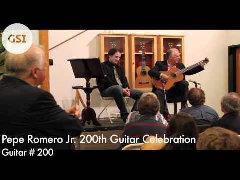 Pepe Romero Jr.'s 200th Guitar Celebration - #200: Classical Guitar at Guitar Salon International