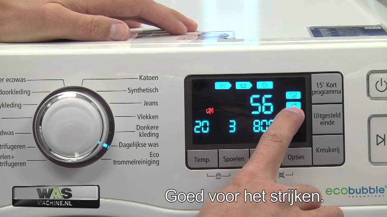 samsung wf80f5e5p4w met ecobubble technologie wasmachine. Black Bedroom Furniture Sets. Home Design Ideas