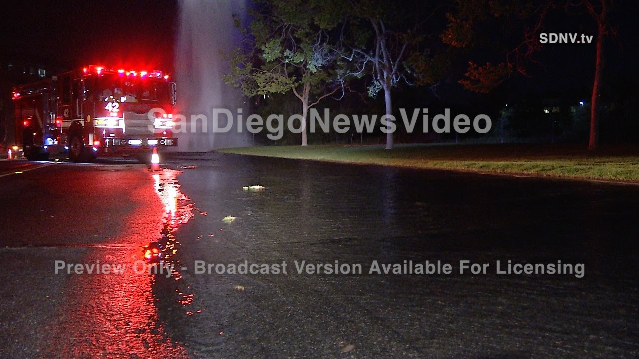 KNOCKED OFF FIRE HYDRANT FLOODS STREETS