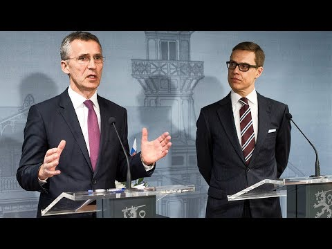 NATO Secretary General with Prime Minister of Finland, 05 MAR 2015