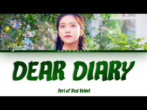 Download YERI 예리 - DEAR DIARY 스물에게 Color Coded s/가사 Han|Rom|Eng Mp4 baru