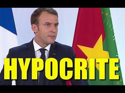 MACRON DISCOURS HYPOCRITES AU BURKINA FASO CONTRADICTION MENSONGE COLONISATION ?!?! PREUVES ET DEBAT