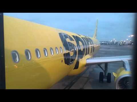 Spirit airlines boarding flight 231 flying from Atlanta to Fort Lauderdale