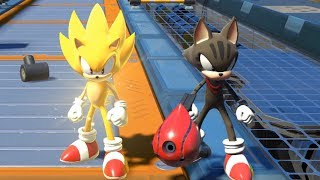 Sonic Forces - Super Sonic & Avatar Tag Team (All Stages)