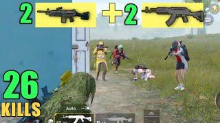 DOUBLE M249 + DOUBLE M762 = CHICKEN DINNER | 26 KILLS SOLO VS SQUAD | PUBG MOBILE