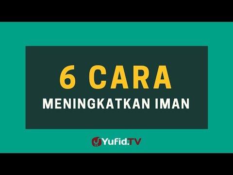 6 Cara Meningkatkan Iman – Poster Dakwah Yufid TV