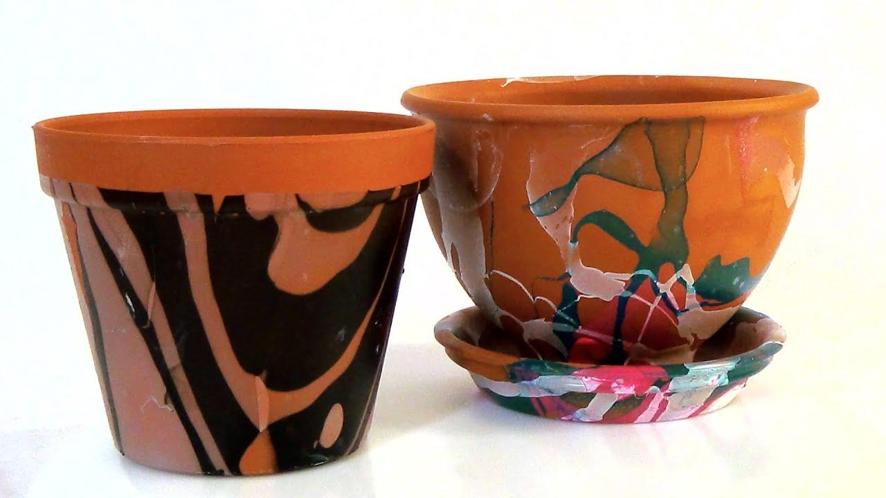 Как украсить пластиковые горшки для цветов своими руками