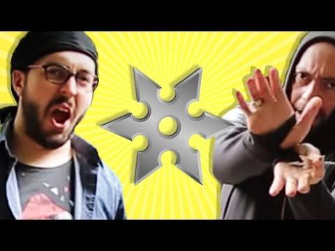 İlginç - BÜYÜK NİNJA KAPIŞMASI - Ninja Yıldızları ile Hedef Vurma