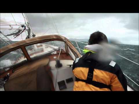 high wind sailing knockdown extreme squall intense heeling sailboat wet wild 11/11/11