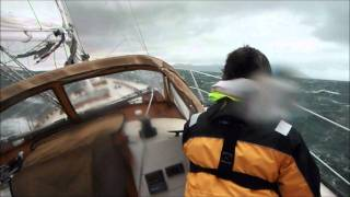 high wind sailing knockdown extreme squall intense heeling sailboat wet wild 11/11/11