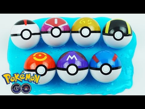 Pokeball Slime Clay Surprise Egg Pokemon Go Toys, Mega Mewtwo Y, Jirachi, Reshiram, Zekrom