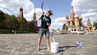 Epic Ice Bucket Challenge in Moscow, Russia!!!