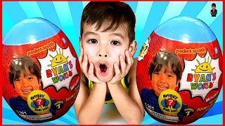 Ryan's World Mystery Mini Egg | Lorenzo Opens Egg Surprise From Ryan's Toys Review