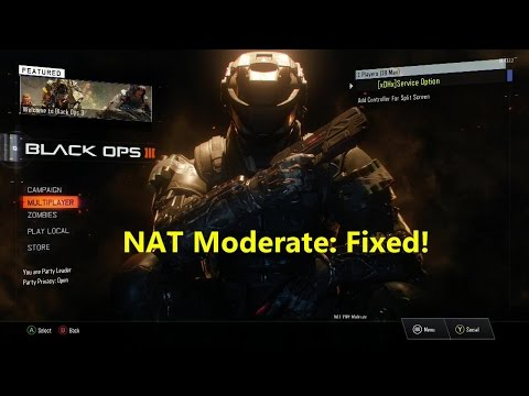 Fixed NAT type from Moderate to Open in Call of Duty: Black Ops III