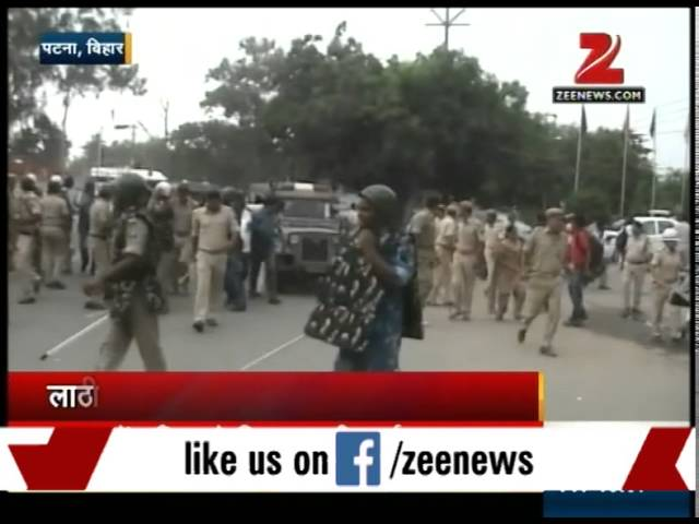 Clash between police, Nishad community protestors in Patna