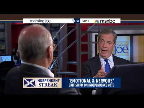 Nigel Farage talks Scotland on US TV *viewer discretion is advised :/