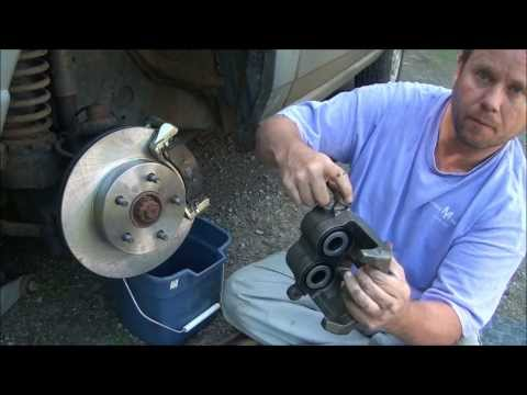 DIY - How to Replace The Front Brake Pads. Rotors and Calipers on a 2000 Jeep Grand Cherokee Laredo