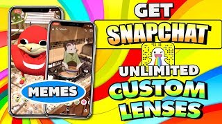 Get Custom Snapchat LENSES MEMES - Unlimited on iOS/Android (NO JAILBREAK/ROOT) WORKING 2018