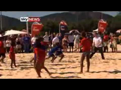 Prince Harry Plays Beach Volleyball In Brazil