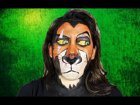 SCAR LION KING MAKEUP TUTORIAL!