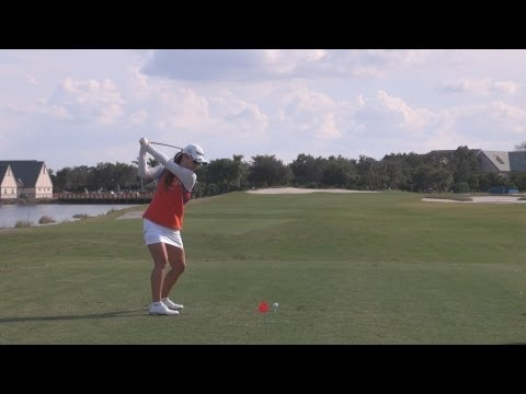 GOLF SWING 2012 - HEE YOUNG PARK DRIVER - DOWN THE LINE & SLOW MOTION - 1080p HD