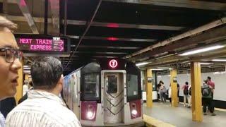 MTA NYC Subway: AM Rush Hour 7 Express Service at Flushing - Main Street